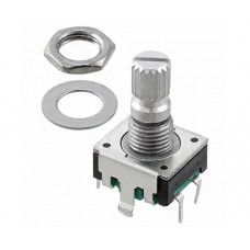 Bourns 24 Pulse Incremental Mechanical Rotary Encoder with a 6 mm Knurl Shaft (Not Indexed) Through Hole