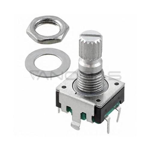 Enkoderis Bourns mechaninis 24 impulsų 10mA