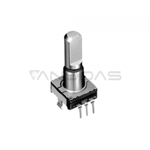 Incremental encoder with button THT 10 mA
