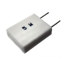 Flameproof metal plate resistor 0.33R 5% 5W 18x14x5mm r=9mm 350ppm/