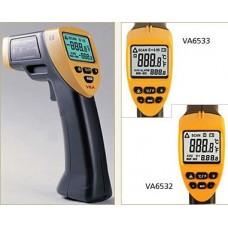 Infrared thermometer with dot laser targeting VA6532 adjustable emissivity