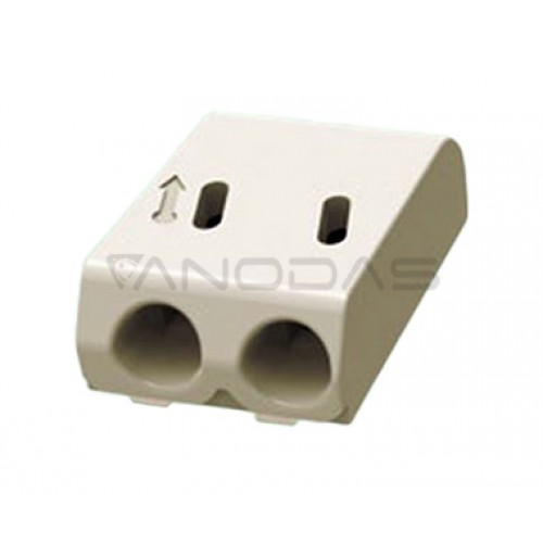 Connector for led strip 2 poles pitch 4.0mm heigth 4.0mm gray colour