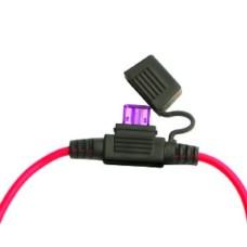 Kabelinis laikiklis mini saugikliui su laidu AWG16