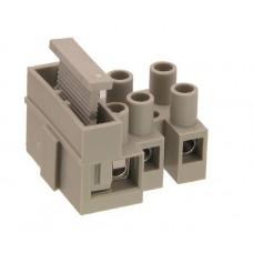Kontaktinė kaladėlė laidų iki 6mm2 sujungimui 3k su saugiklio lizdu