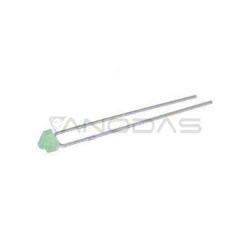 LED  1.8mm  green  1300-2200mcd  diffused