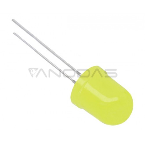 LED  10mm  yellow  45mcd  mat