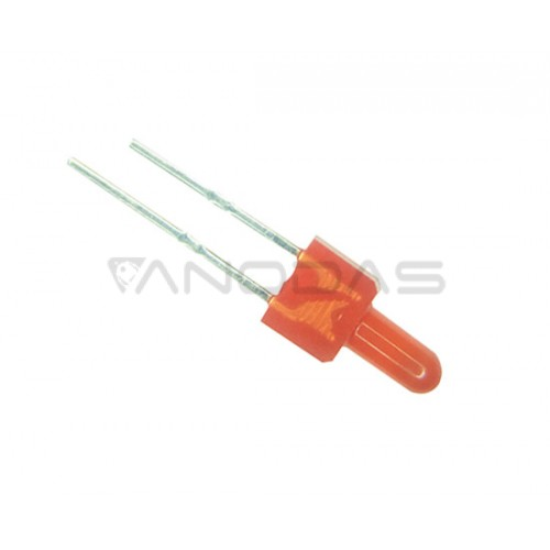 LED  2mm  red  45mcd  diffused
