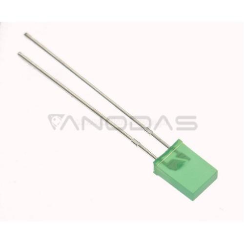 LED  2x5  green  12mcd  diffused  Pb  free