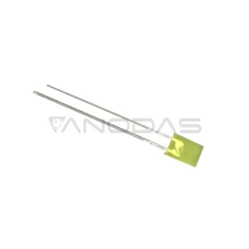 LED  2x5  yellow  68mcd  diffused