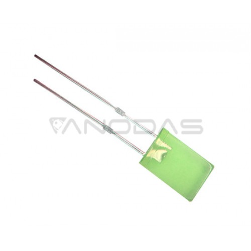 LED  2x5  yellow  green  15mcd  diffused