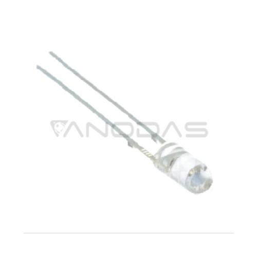 LED  3mm  cold  white  1560mcd  transparent