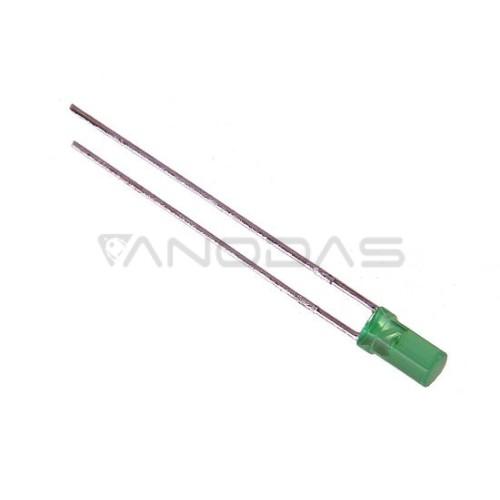 LED  3mm  green  9mcd  diffused  cyl,  Pbf