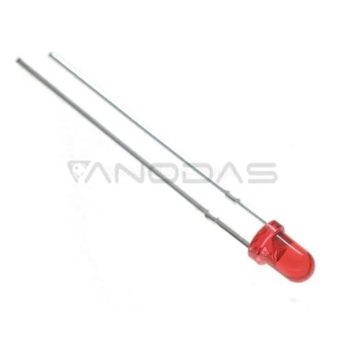 LED  3mm  red  15  mcd  transparent  Pbf