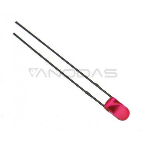 LED  3mm  red  80mcd  diffused  f/l  Pb  free