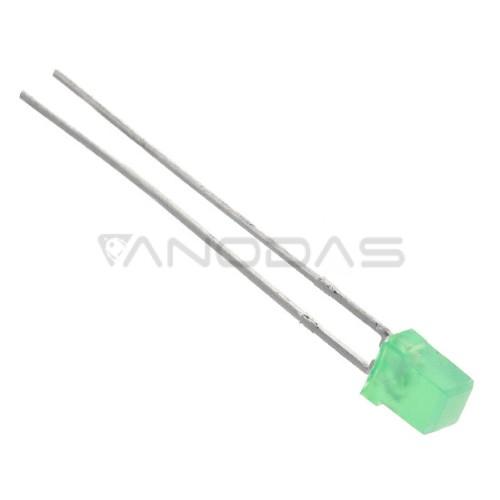 LED  3x5  green  5mcd  diffused  Pb  free