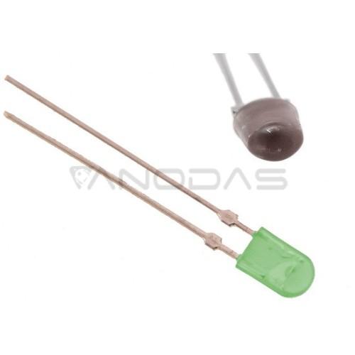 LED  4/3  oval  green  4000mcd  clear  Pbf