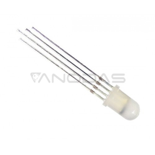 LED  5mm  450/600/200mcd  4  pins,  diffused