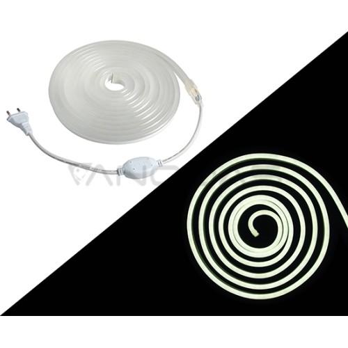 LED Juosta Neon cold white (6000K) 92LED 2835 0.0455A 10W 230V 294.4lm white PCB IP65 5m