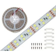 LED juosta šaltai balta 120LED/m 55W/m 5050 IP68 24V 1m