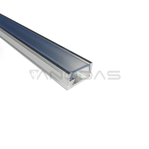 LED juostų aliuminio profilis 8x12mm su permatomu dangteliu 2m