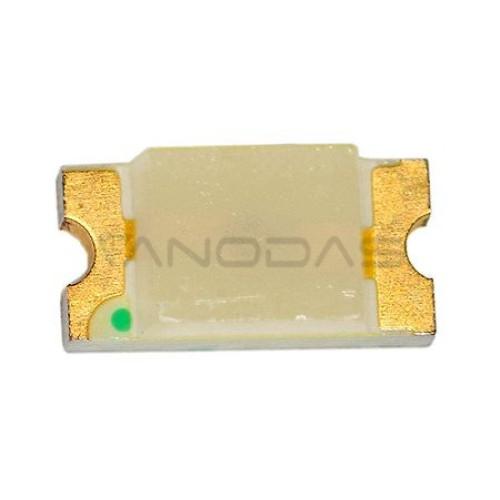 LED  SMD  1206  green  18-35mcd  clear