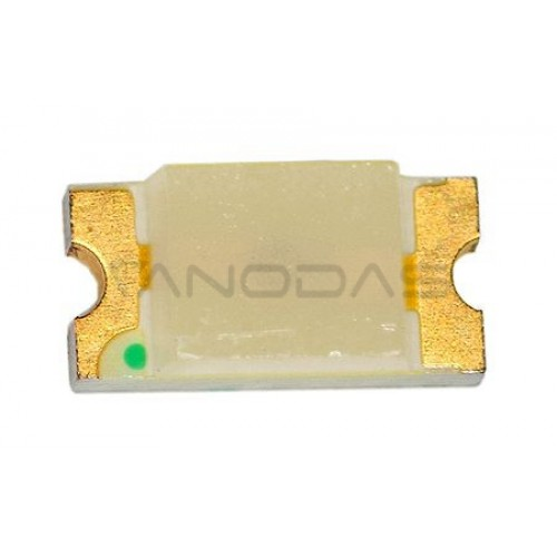 LED  SMD  1206  green:  18-35mcd,  transp