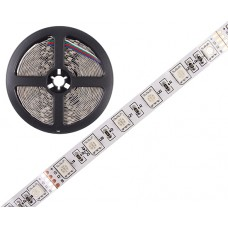LED Šviesos Diodų Juosta 60 LED/m 24V 14W IP20 1m RGB