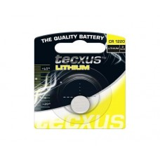 Lithium coin battery CR1220 3V 35mAh 12.5x2.0mm Tecxus blister 1pcs