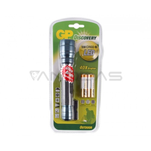 LOE102 GP Discovery LED Torch +2x15AU