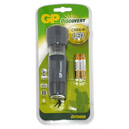 LOE201 GP Discovery LED Torch +4x24AU