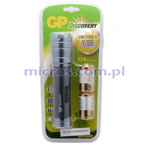 LOE404 GP Dicsovery LED Torch +2x13AU