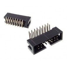 Male 16pin pitch 2.54mm IDC for PCB angled