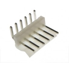 male angled PCB 6 pin pitch 3.96mm tinned white colour