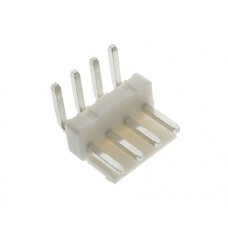 male angled with latch PCB 4 pin pitch 3.96mm tinned