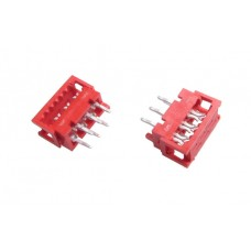 "Male ""Micro-Match"" 6pin connector for ribbon cable"