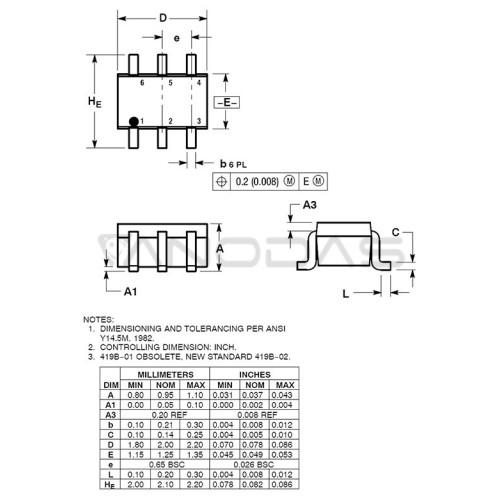 NUP4202W1T2G  SC-88=SOT363