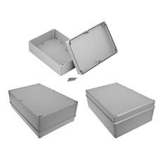 Plastikinė dėžutė Kradex Z95JS IP67 ABS šviesiai pilka 283x193x96mm