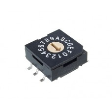 R9316R0S SAB Rotary Coded Switch HEX/BCD 16 positions