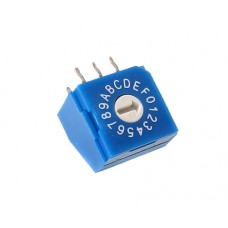 R9316R0Y SAB Rotary Coded Switch HEX/BCD 16 positions