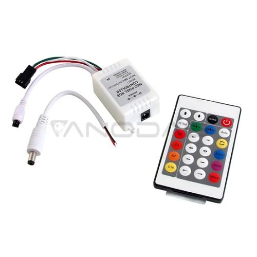RGB LED Skaitmeninės juostos valdiklis WS2812B