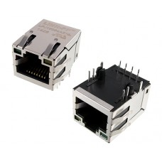 RJ45 connector with 10/100 Base-T integrated magnetics LPJ16264AENL