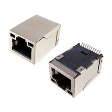 RJ45 connector with 10/100 Base-T integrated magnetics LPJ19201BGNL
