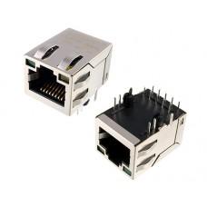 RJ45 connector with 1000 Base-T integrated magnetics LPJG16314A28NL Link-PP