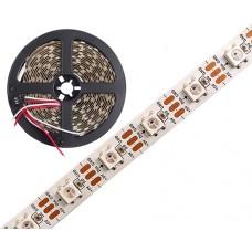 Skaitmeninė LED juosta WS2812B  (623/519/470nm) 60LED 5050 18W 5V PCB IP20 1m