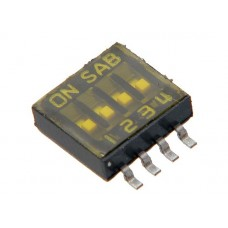 SOP04E SAB dip-switch IC type 4 contacts SMD montage p 1.27mm