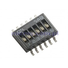 SOP06E SAB dip-switch IC type 6 contacts SMD montage p 1.27mm