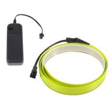 Šviečianti šviesiai žalia juosta El tape 10mm 1m maitinimas 2xAA