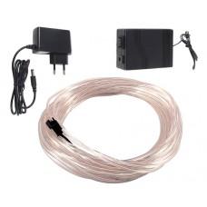 Šviečiantis baltas laidas El wire 3.2mm 10m maitinimas 230VAC