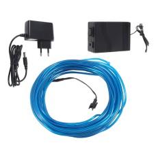 Šviečiantis mėlynas laidas El wire 3.2mm 10m maitinimas 230VAC