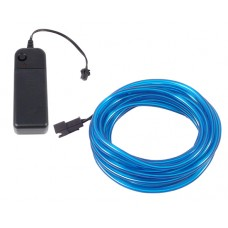 Šviečiantis mėlynas laidas El wire 3.2mm 3m maitinimas 2xAA